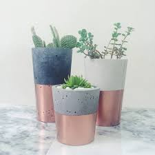 pin 2 these copper dipped cement mini pots are a great way to add