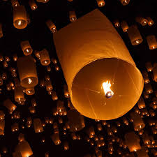 paper lanterns with lights for weddings home decor wedding party decoration with sky flying wishing paper