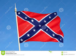 Civil War Union Flags Confederate Flag Vs Union Flag Civil War Concept Stock Vector