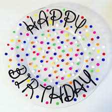 celebration plate personalized happy birthday plate painted plate 10 inch plate