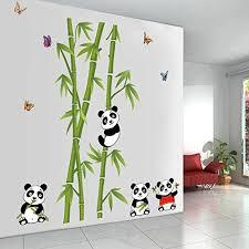 stickers panda chambre bébé alicemall sticker bambou panda sticker mural chambre enfant
