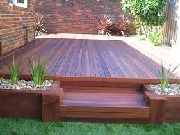backyard decking shamrock landscaping and design landscaping narre