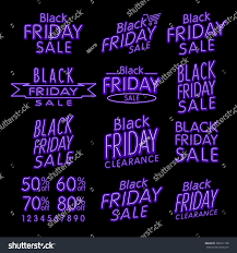 black friday designs neon retro style stock vector 338211158
