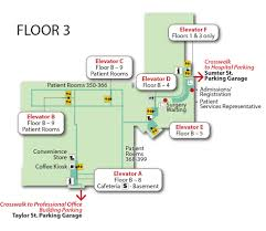 baptist campus and floor plan maps palmetto health