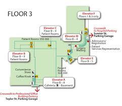 Floor Plan Hospital Baptist Campus And Floor Plan Maps Palmetto Health