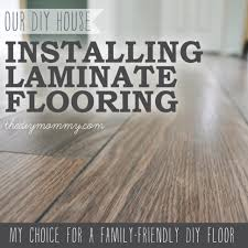 Can You Put Laminate Flooring On Stairs Flooring Installing Laminate Flooring By The Diy Mommy Our House