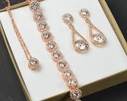 wedding gold set wedding jewelry sets etsy