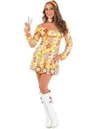 yellow hippie costume 60 u0027s fancy dress play u0026 party