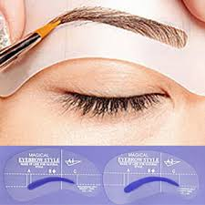 4pcs professional grooming eyebrow stencils makeup kit template eyebrow makeup eye brow stencil tool diy accessories