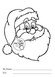 merry christmas santa coloring pages cheminee website