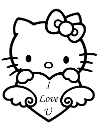 70 kitty coloring pages images draw