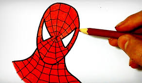 draw spiderman superhero