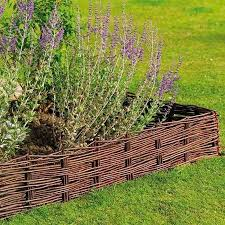 willow hurdle lawn border edging 1 2m x 20cm garden flowerbed