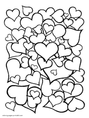 Coloring Pages Hearts Coloring Pages For Hearts Funycoloring by Coloring Pages Hearts