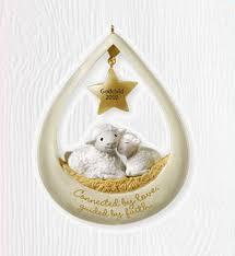 godchild 2010 hallmark ornament family boy lambs god