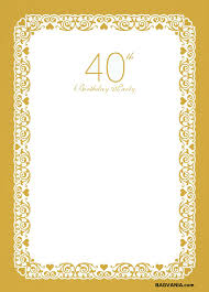40th birthday invitations free images invitation design ideas