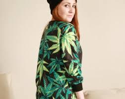 Cannabis Halloween Costumes Weed Sweatshirt Etsy