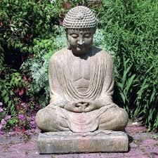 garden buddha statues concrete buddha statue in bamboo garden