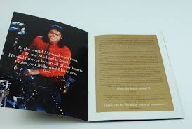 lot detail michael jackson original 2009 memorial funeral program