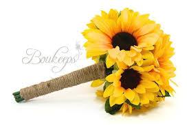 sunflower ribbon choose ribbon color sunflower bouquet sunflower bridal bouquet