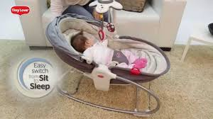 Baby Automatic Rocking Chair 18017 Cozy Rocker Napper Youtube