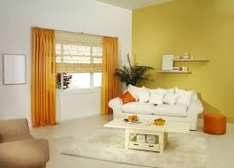 living room yellow white themes simple table drawer bright