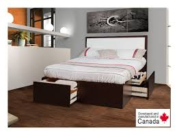 Bedroom Furniture Toronto Noho Bed W Padded Headboard Drawer Bed Bedroom Furniture