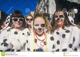 little girls dressed in mardi gras dalmatian costumes new orleans