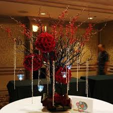 Tree Centerpiece Wedding by Red Wedding Floral Arrangments Wedding Trees Centerpieces With