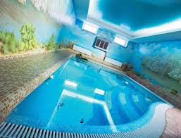 luxury house with best indoor pool also ceiling lights and big