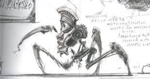 centurion spider rough sketch video games artwork