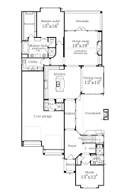 Narrow Home Floor Plans by Narrow House Plans With Courtyard Garage Homeca