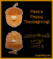 happy thanksgiving reflecting acorn glitter graphic greeting