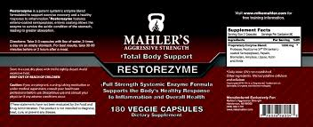 best medicine for inflammation restorezyme for workout recovery mahler u0027s aggressive strength