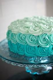 turquoise wedding cake pinkous