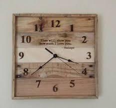 personalized anniversary clock anniversary clock pallet wall clock personalized clock by raymels