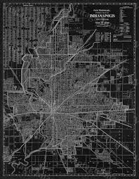 Indianapolis Zip Code Map by Old Indianapolis Map 1921 Antique Restoration Hardware Style Black