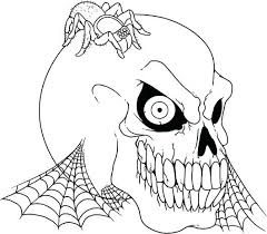 Spider Color Pages Free Printable Coloring Pages Spiderman Spider Animal Scary Skull by Spider Color Pages