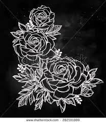 vintage floral highly detailed hand drawn stock vector 282101954