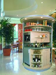 Compact Kitchens Revolving Circle Compact Kitchen Idesignarch Interior Design