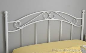 Paint Metal Bed Frame Headboard For The Guest Bedroom