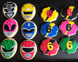 power rangers wrapping paper power ranger cookies etsy