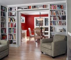 Small Red Bookcase Built In Bookcases Around Archway Google Search Home