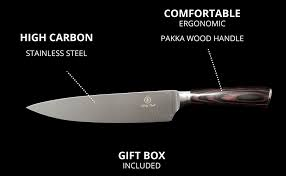 high carbon kitchen knives kitchen wooden handle professional chef carving knife