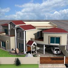 3d front elevation com european house plans two story