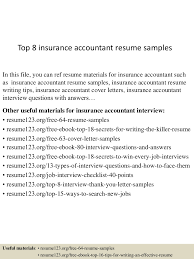 Accountant Resume Samples by Top8insuranceaccountantresumesamples 150723081822 Lva1 App6891 Thumbnail 4 Jpg Cb U003d1437639554