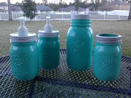 Mint Green Bathroom Accessories by Ball Mason Jar Bathroom Set White And Mint Green Two Soap