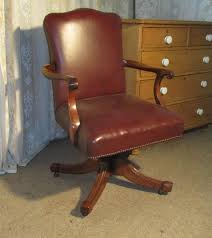 Leather Office Desk Chair Edwardian Mahogany And Leather Office Desk Chair Antiques Atlas
