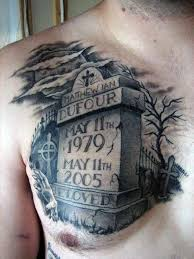 50 tombstone tattoos for memorial designs