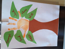 the family tree garden center family tree handprint art preschool project for the kids
